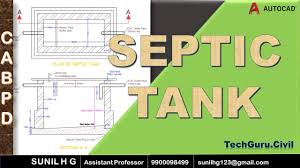 Design Of Septic Tank For 200 Users Septic Tank In Autocad