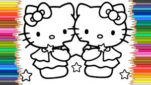 Hello Kitty Friends Coloring Page L Coloring Markers Videos For
