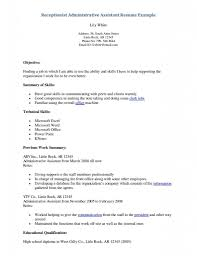 Resume For Medical Receptionist Templates Secretary Picture
