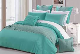 luxton molise turquoise quilt cover set king or queen size