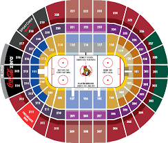 Ottawa Senators Seating Chart Canadian Tire Centre Section 101 Seat Views Seatgeek