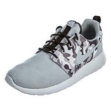 Amazon Com Nike Mens Roshe One Se Wolf Grey Black White