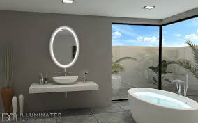 dimmable backlit oval 24x36 bathroom mirror93