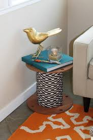 Modern cool end table ideas unique-wire-spool-end-table-ideas