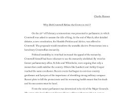 why did cromwell refuse the crown in a level history  document image preview