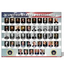 Us Presidents Chart Usa Presidents Of The United States Of America Poster New