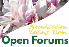 accreditation open forums