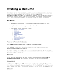 What To Put On Your Resume What To Include In On A Resume Template For Internship How Write 5