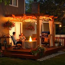 image outdoor lighting ideas patios. An Evening With Your Spouse In The Backyard Can Be A Romantic Escape From World Image Outdoor Lighting Ideas Patios E