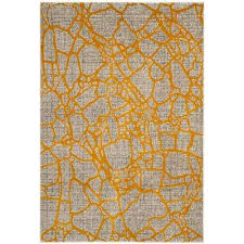 porcello light gray yellow 8 ft x 11 ft area rug