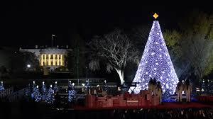 President Obama Christmas Tree Lighting President Obama Lights National Christmas Tree For Final Time