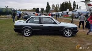 side of bmw 320i 2 door sedan 125ps 1986 at old car land no