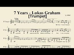 7 years old sheet music 8 besten trumpet music bilder auf pinterest noten flöte und