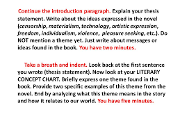 guided timed essay f theme copy the thesis statement below on  2 continue