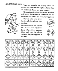 Small Picture Board Game Pieces Activity Sheet Santa Activity Sheet