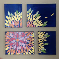 diy multi canvas paper wall flower art on 16x20 and 12x16 canvasses with scrapbook paper and acrylic paint by sue on multiple canvas wall art diy with diy multi canvas paper wall flower art on 16x20 and 12x16 canvasses