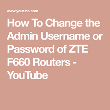 After typing your username and password, press enter. How To Change The Admin Username Or Password Of Zte F660 Routers Youtube Router Passwords Username