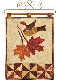 Quilting Downloads - Quilt Patterns to Download & Vintage November Wall Hanging Pattern or Laser-Cut Kit Adamdwight.com