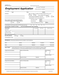 Free Downloadable Employment Application Forms 7 Free Printable Employment Application Form Pdf St