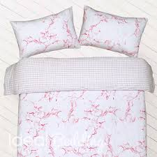 pieridae marble effect pink duvet quilt bedding cover and pillowcase bedding set duvet sets complete bedding sets bed sheets pillowcase