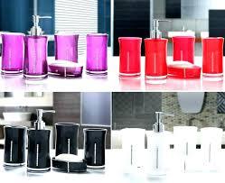 Red Bathroom Accessories Sets Uk And Black Cute Ceramic Set China Ba