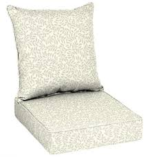 ivory outdoor deep seat chair cushion 2 piece thick replacement cushions leaf