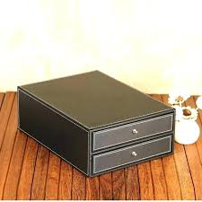 faux leather file box with hinged lid boxes decorative home storage lids black cabinet top filing file box