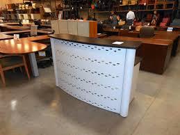 image of l shaped reception desk curved