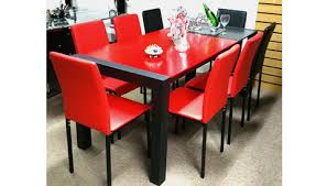 Red dining table set Glass Dining Black And Red Dining Set Bumpermanhkcom Black And Red Dining Set Bumpermanhkcom