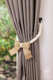 dry tie backs white cotton rope and burlap bow curtain tie backs shabby chic window treatment