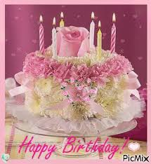 Floral Happy Birthday Cake Gif Pictures Photos And Images For