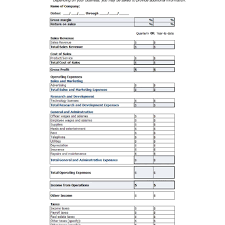 Sample Profit And Loss Statement Small Business Income Statement Template Free Printable Income Statement Inside