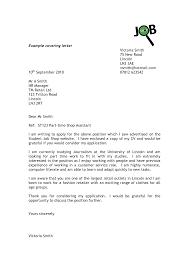 Sample Job Cover Letter Application Doctor Customer Service Position