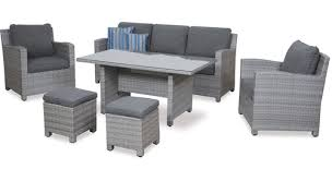 baja 6 pce low dining outdoor lounge suite