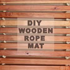 diy wooden mat