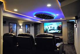dark media room. Is Your Basement Unfinished Or Outdated And Dark? Let J\u0026F Specialties Help Transform The Space Into A Warm Inviting Area, Great For Relaxing, Dark Media Room