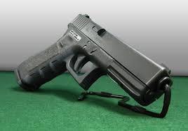 Handgun Display Stand Retail Stands for a Gun Display Case at Gun Shelf 16