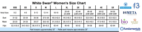 45 Accurate White Cross Scrubs Size Chart