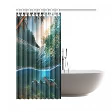 interestprint deep ocean tropical palm tree home decor underwater world sea turtle polyester fabric shower curtain bathroom sets with hooks item code