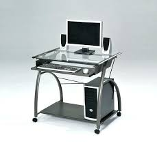clear computer desk glass computer desk acme metal and with clear top slide out keyboard tray