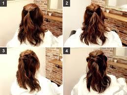 5分でできるミディアム向け簡単ハーフアップアレンジヘア加減光