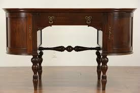 oval oak partner desk 1900 antique
