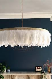 fabulous feather chandelier featuring chains gloria white