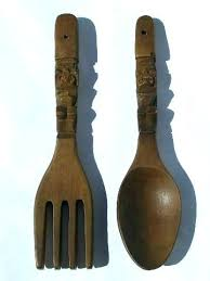 fork spoon wall decor fork spoon wall decor wooden big fork and spoon wall decor meaning
