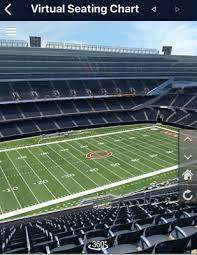 Chicago Bears Seating Chart Virtual 2 Tickets Chicago Bears Carolina Panthers 8 8 Close To Aisle