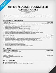 office manager bookkeeper resume samples across all industries pinterest resume examples resume and offices bookkeeper resume examples