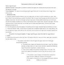 Speech Outline Format Public Speaking Template