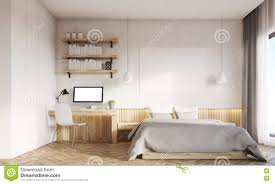 home office in master bedroom. Plain Home Download Front View Of Home Office And Master Bedroom With Two Windows  Stock Illustration  In 0