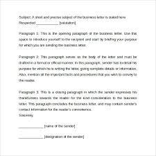 sample of formal business letter formal business letter format 29 download free documents in word pdf