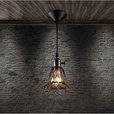 new retro industrial iron cage chandelier led lamps living room loft black chandeliers e27 bulb led re chandelier lighting 5 chandelier dining